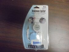 Maxell Headphone Splitter Connects two Headphones iPod Compatible Mp3