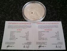 BELARUS 1oz silver coin HEDGEHOG 999 proof 2011 Swarovski crystal CoA capsule