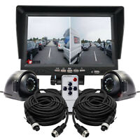 "HD 7"" Split Screen Monitor 4PIN 2x IR Sony CCD Sensor Reversing Camera For Truck"