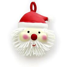 Light Up Father Christmas Puffer Ball Squishy Squeeze Toy ~ Santa Claus