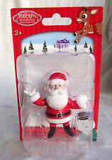 Santa Rudolph Reindeer Red Nosed Christmas Village Figure Figurine Cake Topper