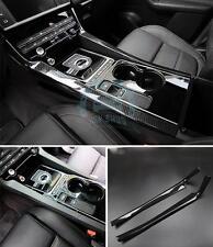 2PCS Carbon Fiber Texture Stick Shift Both Sides Interior Trim For Jaguar f-pace
