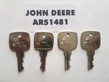 (4) John Deere Ignition Key fit 955 4200 4300 4400 4500 4600 4700 5200 5300 5400