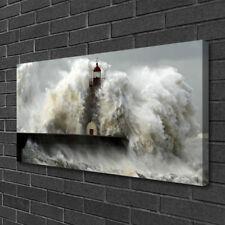 Leinwand-Bilder 100x50 Wandbild Canvas Kunstdruck Leuchtturm Landschaft