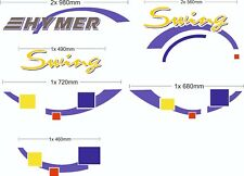 Motorhome camper van Sticker Decal Graph HYMER  Swing vinyl graphic / decals