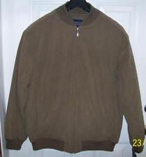 Roundtree & Yorke Big & Tall Mens Brown Jacket Coat Size 4XT $175 NEW NICE!!