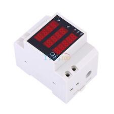 100A AC Digital Voltímetro Amperímetro Potencia Medidor Precisión Multifuncional