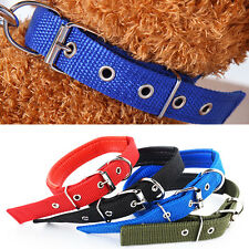 Pet Cat Dog Adjustable Belt Buckle Neck Strap Collar Nylon Cosy Charm Collars