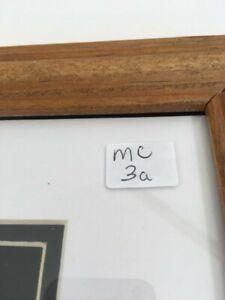 "Vintage honey oak wood frame, 11"" x 14"", regular glass, 8"" x 10"" double mat"