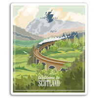 2 x 10cm Scotland Vinyl Stickers - Highlands UK Sticker Laptop Luggage #18532