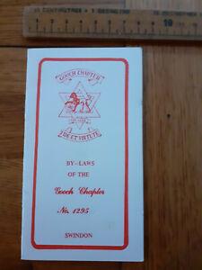 Freemasons Gooch Chapter By-Laws No 1295 Swindon