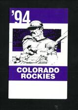 Colorado Rockies--1994 Pocket Schedule--American Family Insurance