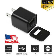 32GB 1080P USB Mini SPY Hidden Wall Charger Camera US Adapter FULL HD Cam