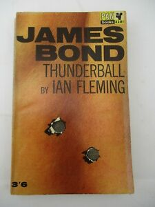 1963 PB Pan Book Thunderball James Bond by Ian Fleming with Die Cut Cover