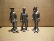 LOT FIGURINES QUIRALU ?/ 3 OFFICIERS AU DEFILE/FRANCAIS/WW2