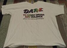 Vintage D.A.R.E Drug Awareness Tshirt Rainbow Xl Fruit of the Loom Nj City Polic