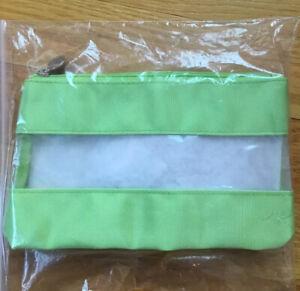 Origins Green Clear Small Medium Zipper Make Up Bag NEW