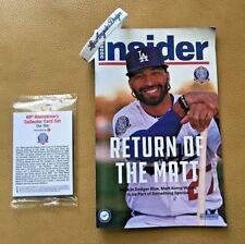 Dodger Insider Magazine Matt Kemp Return Of Matt  5/2018 W/Dodger Wristband/Card