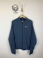 NIKE, Mens Size M, Blue, Small Logo, Full Zip, LW Running Sweatshirt,*EX COND*