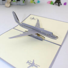 Greeting Card Three-dimensional Greeting 3D Paper-cut Business Aircraft Model