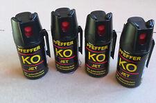 4 Stück Pfefferspray Ballistol KO Jet 40 ml Sprühstral Tierabwehrspray Klever