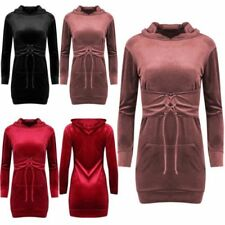 Long Sleeve Mini Dresses for Women with Hooded