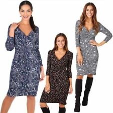 Geometric Viscose Wrap Dresses