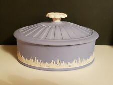 New Listing*Wedgwood Blue Jasper Ware Covered Bowl Dish Oval Wgc* Limited Edition 2003
