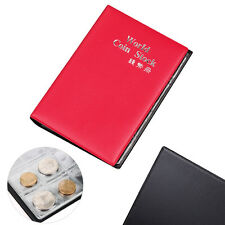 Classic Coin Album Page Holders 12 Clear Pockets Per Page Collectors Ring Red UP