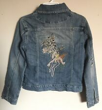 Vanilla Star Girls Jean Jacket Fairy Embroidery Size L Euc! Denim Jacket Juniors