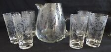 Glastonbury Lotus USA Bridal Bouquet Pitcher & 6 Tumblers