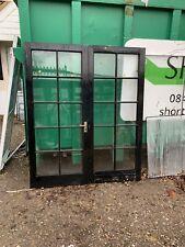 Reclaimed Single Glazed Wood French doors Hardwood Timber Wooden 1660 x 1980mm