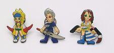 3 pcs Final Fantasy X-2 Metal Pin Badge Set ~Clutch Pins~