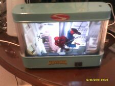 Marvel Spiderman squar lamp light with moving character features rare find.