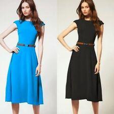 Crew Neck Sleeveless Cotton Blend Wiggle, Pencil Women's Dresses