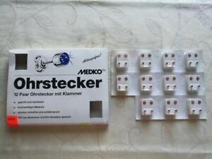 Medizinische Ohrstecher Medico bunte Steine 12 Paar