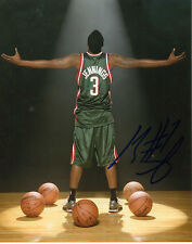 "BRANDON JENNINGS SIGNED MILWAUKEE BUCKS 8"" x 10"" PHOTO W/ COA DETROIT PISTONS"