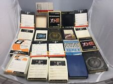 Vintage 8 Track Cassette Tape,Lot Of 10 Tapes. Tested.Recordable,10 Covers Too