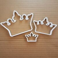 Crown King Royal Monarch Shape Cookie Cutter Dough Biscuit Pastry Fondant Sharp