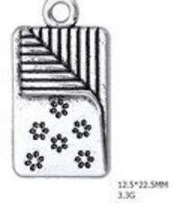 LOVELY SILVER 3D  QUILTING CLIP ON CHARM FOR BRACELETS - TIBETAN SIVER