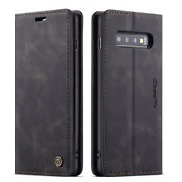 CaseMe For Samsung Galaxy S10 Plus S10e Magnetic Genuine Leather Wallet Case