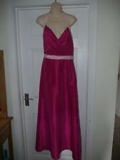 New Ladies Pink Forever Yours Prom/ Ball Gown Size 10 UK 14 Bridesmaid Dress