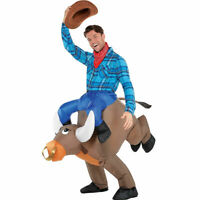 Bull Rider Cowboy Rodeo Adult Inflatable Costume Halloween Mens Airblown