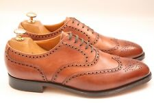 Men's Crockett & Jones New Lingwood Tan Brown Leather Brogue Oxford Shoes UK 8.5