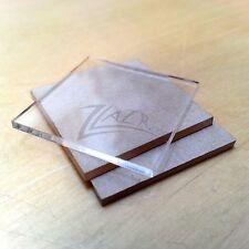 "(25) 2""x2""x1/16"" Clear Acrylic Squares Custom Shape Plexiglass Plastic-USA MADE!"