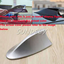 Silver Car Radio FM/AM Signal Aerial Shark Fin Antenna For Vauxhall Corsa Audi