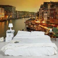 Vlies Tapete Wand Bilder Großer Kanal von Venedig Foto Tapete Wandtapete Deko
