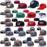 Mens Women Adjustable Golf Baseball Caps Flat Brim NFL Teams Logo Snapback Hat