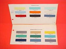 1957 1958 1959 1960 1961 1962 INTERNATIONAL HARVESTER PICKUP TRUCK PAINT CHIPS