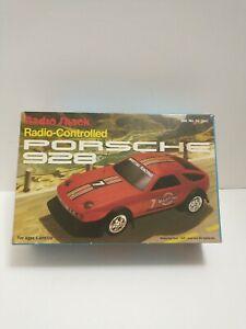 Tandy Radio Shack Porsche 928 1:20 Plastic Radio Control Car With Box Tested